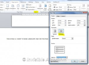 Page Options Dialog Box