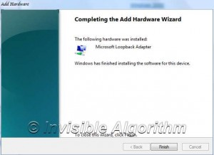 Install Microsoft Loopback Adapter