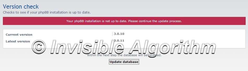 Update phpBB Version