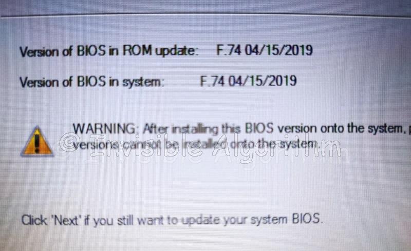 Bios Update before sysprep
